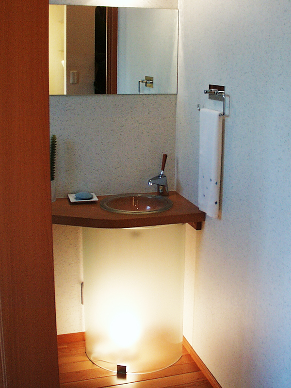 海老名展示場 洗面カウンター