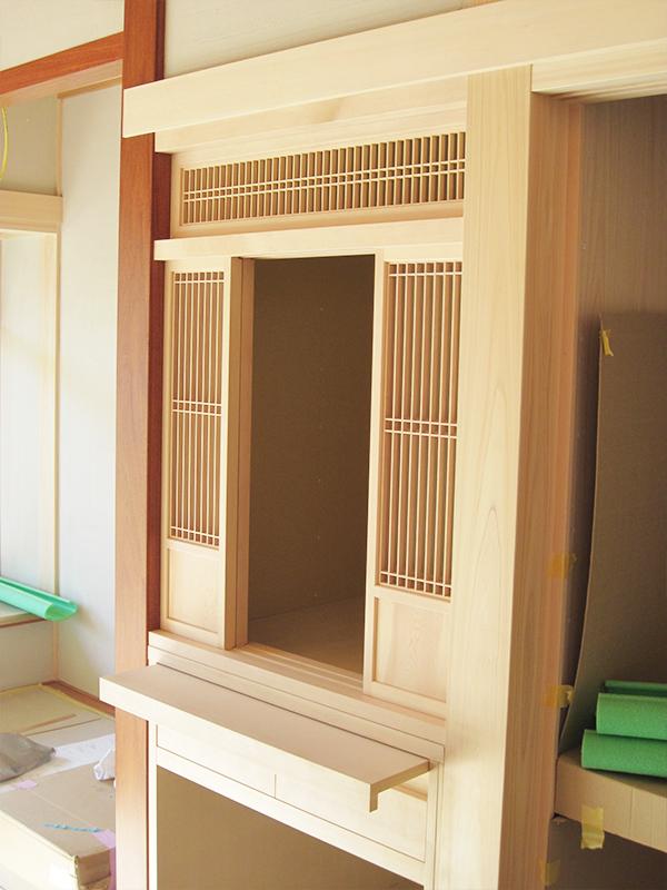 T邸  和室収納棚
