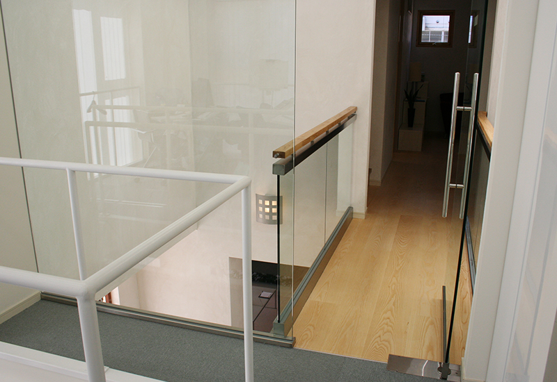 菊名モデルハウス ガラスドア