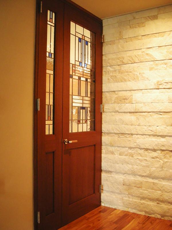 ステンド入りドア