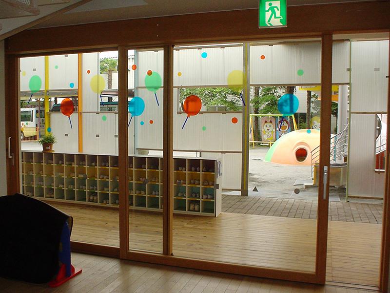 千葉県幼稚園 木製サッシ