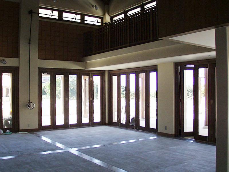 石垣島某リゾート施設 木製サッシ