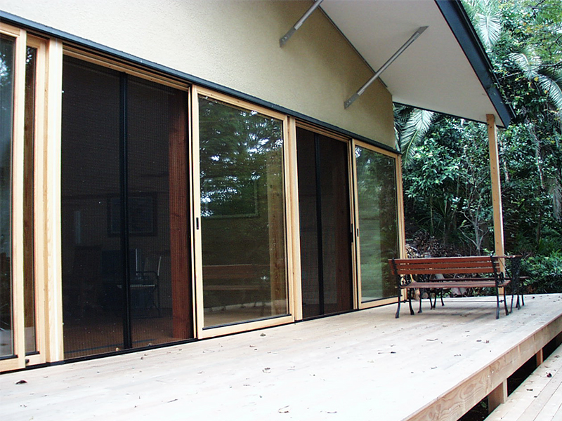 真鶴木の家  木製サッシ